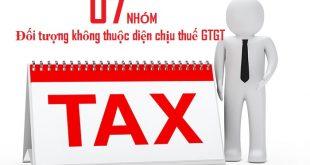 07 nhóm đối tượng không thuộc diện chịu thuế GTGT