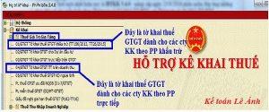 Kê khai thuế trên phần mềm HTKK