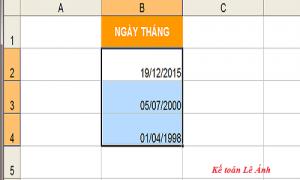 chuyển số thành ngày tháng trong Excel