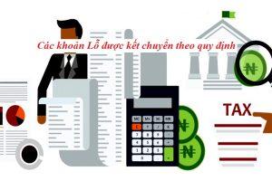 Các khoản lỗ được kết chuyển theo quy định
