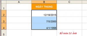 sửa lỗi sai định dạng trên Excel