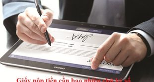 giấy nộp tiền thành công có bao nhiêu chữ ký số