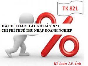 hạch toán thuế tndn- tk821