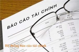 hệ thống báo cáo tài chính