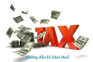 Hướng dẫn kê khai thuế