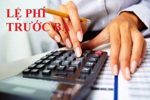 Kế toán lệ phí trước bạ