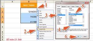 lỗi tự nhảy ngày tháng trên Excel