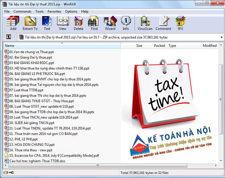 tài liệu ôn thi đại lý thuế