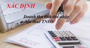 Xác định doanh thu tính thu nhập chịu thuế