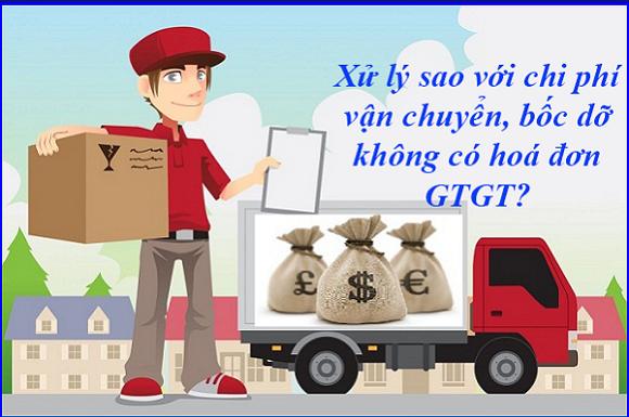 xử lý chi phí vận chuyển không có hóa đơn